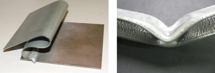 Metallschutzgaslöten Beschichteter Stahl Feinbleche Mit